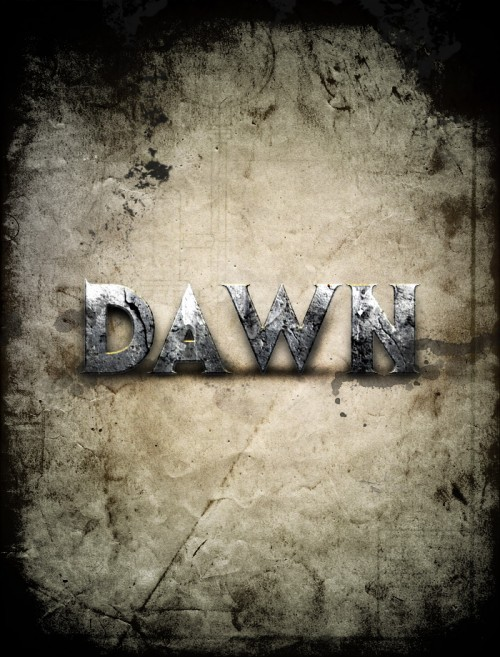 Текст в стиле Dawn of War