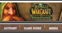 Web меню World of Warcraft